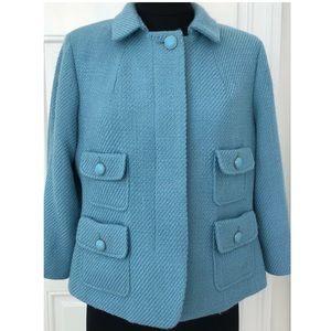 Talbots Tiffany Blue Tweed Blazer